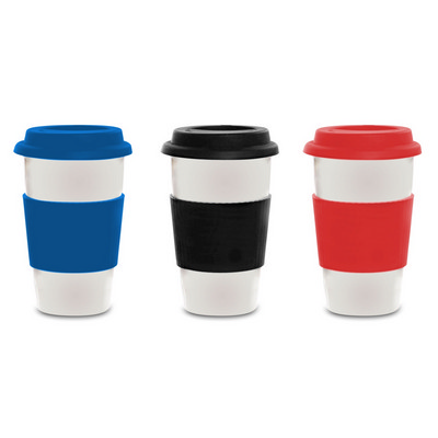 Latte Ceramic Coffee Cup - (printed with 1 colour(s)) PS2203_PS
