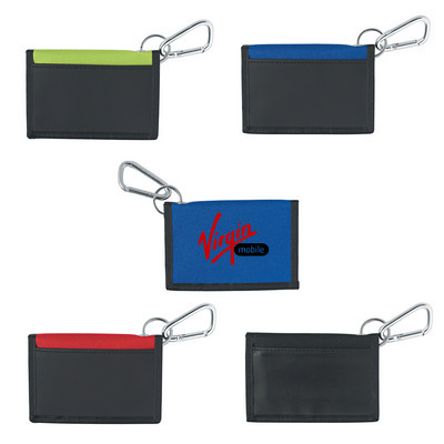 Wallet With Carabiner - (printed with 1 colour(s)) PH9482_PS