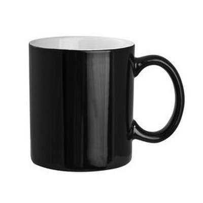 Black Exterior with White Interior Can Shape Mug - (printed with 1 colour(s)) PS2606-BW_PS