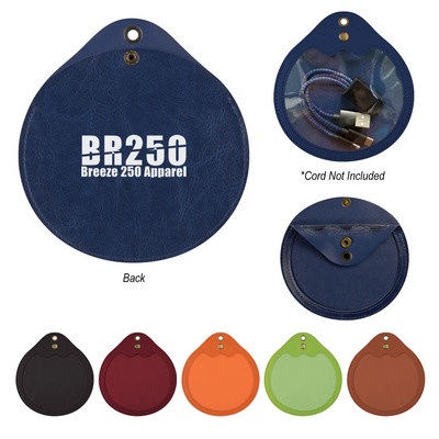 Round Tech Accessories Pouch - Includes Decoration PH296_PS