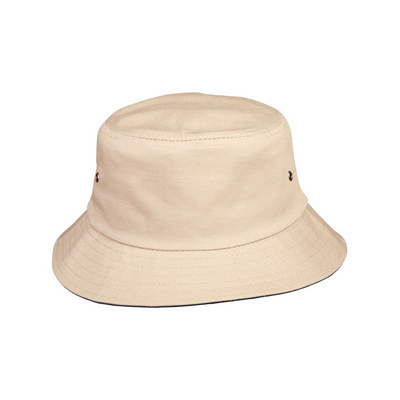 Enzyme Washed With Contrasting Underbrim Bucket Hat (CH32A_WIN)