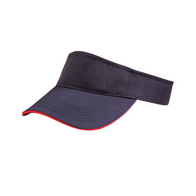 Polo Twill Visor With Or Without Sandwich, Crossover Velcro (CH49_WIN)