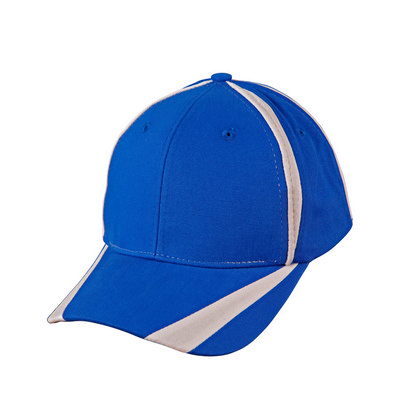 Brushed Cotton Twill Baseball Cap With �X� Contrast Stripe (CH81_WIN)