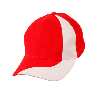 Brushed Cotton Twill Baseball Cap With Contrast Stripe Across Peak & Crown (CH82_WIN)