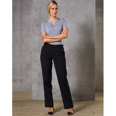 Ladies Wool Blend Stretch Slim Leg Flexi Waist Pants (M9400_WIN)