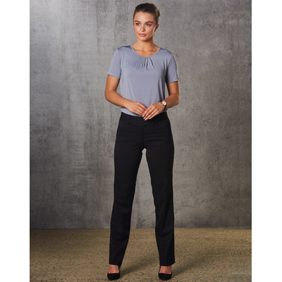 Ladies PolyViscose Stretch Low Rise Pants (M9420_WIN)