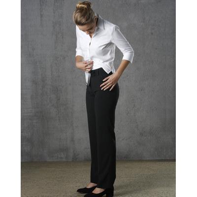 Ladies Poly/Viscose Stretch Stripe Low Rise Pants (M9430_WIN)