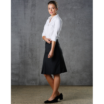 Ladies Wool Stretch Pleated Skirt (M9473_WIN)