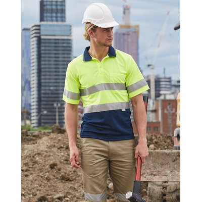 High Visibility Short Sleeve Safety Polo 3M Reflective Tapes (SW17A_WIN)