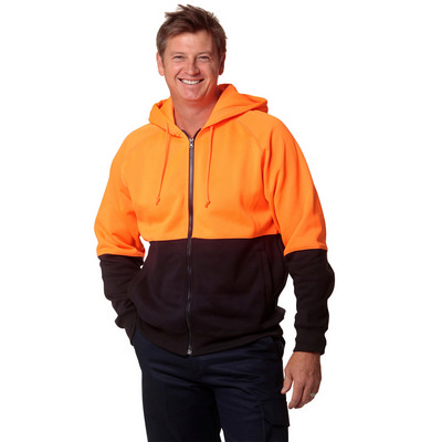 High Visibility TwoTone Fleecy Hoodie (SW24_WIN)