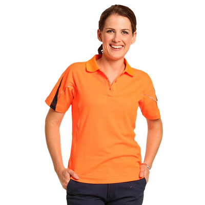 Ladies TrueDry Hi-Vis Polo with Reflective Piping (SW26A_WIN)