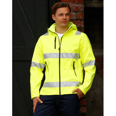 Adults HiVis Heavy Duty Softshell Jacket with 3M Tapes (SW30_WIN)