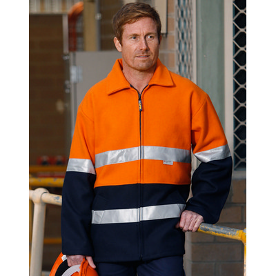Hi-Vis Two Tone Bluey Safety Jacket with 3M (SW31A_WIN)