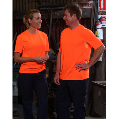 Adults Hi-Vis CoolDry Mini Waffle Safety Tee (SW39_WIN)