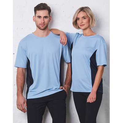 (Unisex) CoolDry Mesh Contrast Tee (TS12_WIN)