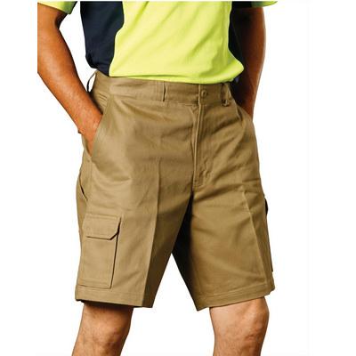 Mens Heavy Cotton Pre-shrunk Cargo Shorts (WP06_WIN)