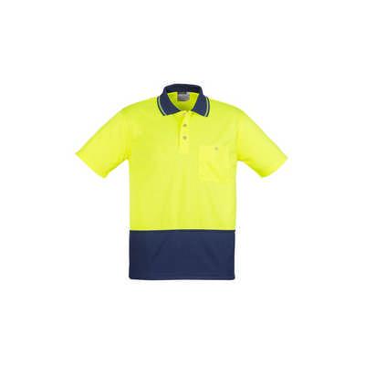 Unisex Hi Vis Basic Spliced Polo - Short Sleeve