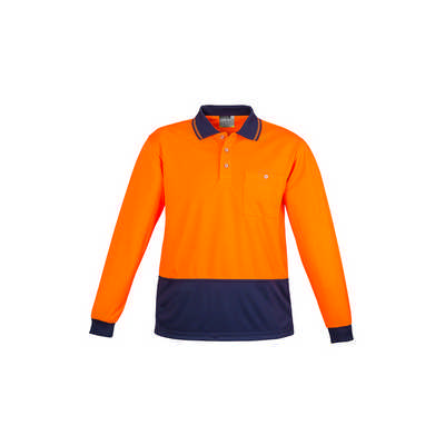 Unisex Hi Vis Basic Spliced Polo - Long Sleeve