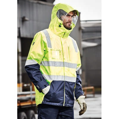 Mens Hi Vis 4 in 1 Waterproof Jacket (ZJ530_SYNZ)