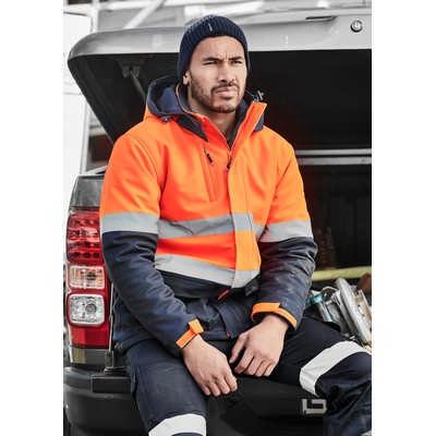 Unisex Hi Vis Antarctic Softshell Taped Jacket (ZJ553_SYNZ)