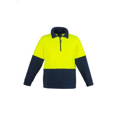 Unisex Hi Vis Half Zip Fleece Jumper