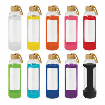 Eden Glass Bottle - Silicone Sleeve - (printed with 1 colour(s)) 113950_TNZ