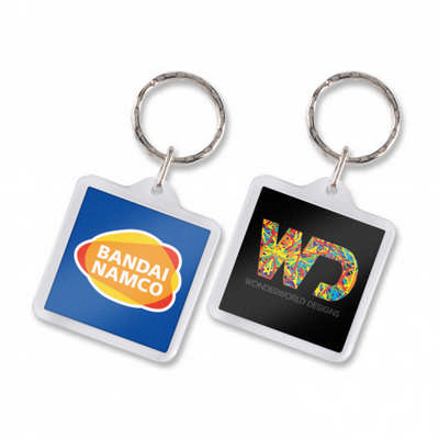 Lens Key Ring - Square  - (printed with 4 colour(s)) 100294_TRDZ