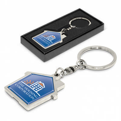 House Metal Key Ring - (printed with 1 colour(s)) 100322_TRDZ