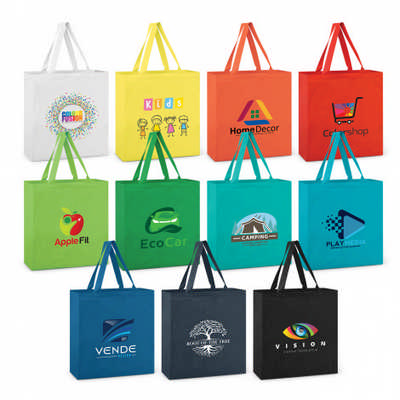 Carnaby Cotton Tote Bag - Colours - (Includes Decoration) 109135_TRDZ