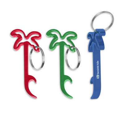 Palm Tree Bottle Opener Key Ring - (printed with 1 colour(s)) 109643_TRDZ