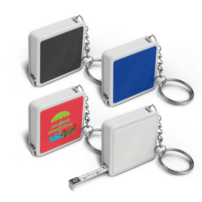 Square Tape Measure Key Ring - (printed with 1 colour(s)) 109685_TRDZ