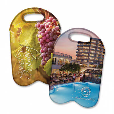Neoprene Double Wine Cooler Bag - Full Colour - (printed with 4 colour(s))