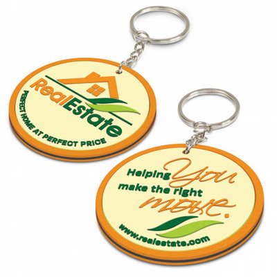 PVC Key Ring Small - Both Sides Moulded - (printed with 4 colour(s)) 111770_TRDZ