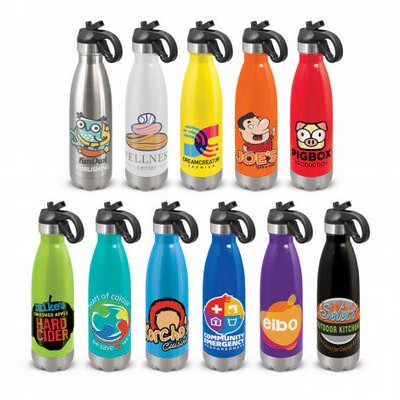 Mirage Metal Bottle - Flip Lid - Includes Decoration 113808_TRDZ