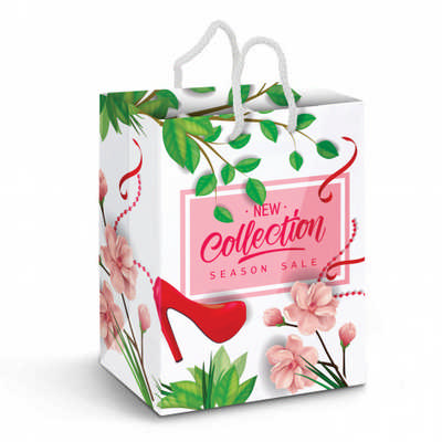Large Laminated Paper Carry Bag - Full Colour - (printed with 4 colour(s))