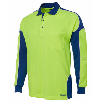 JBs Hi Vis L/S Arm Panel Polo (6AP4L_JBS)