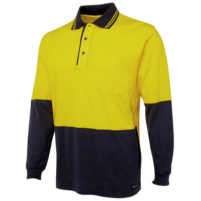 JBs Hi Vis L/S Cotton Polo (6CPHL_JBS)