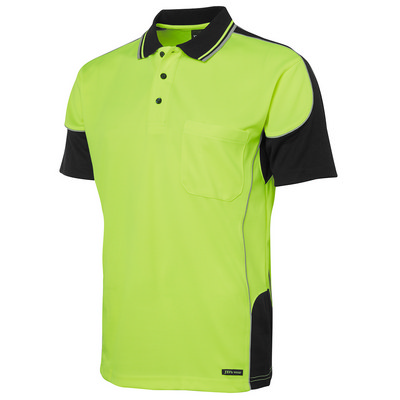 JBs Hi Vis Contrast Piping Polo (6HCP4_JBS)