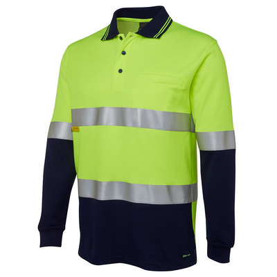 JBs Hi Vis L/S (D+N) Cotton Back Polo (6HMCB_JBS)
