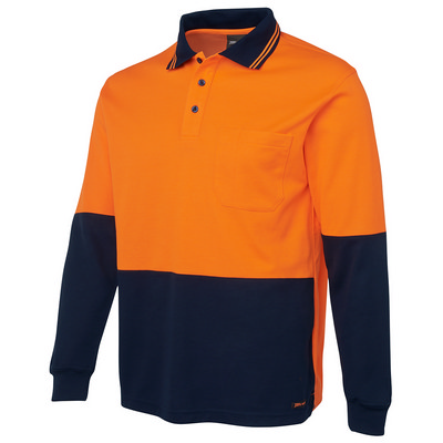 JBs Hi Vis L/S Cotton Back Polo (6HPL_JBS)
