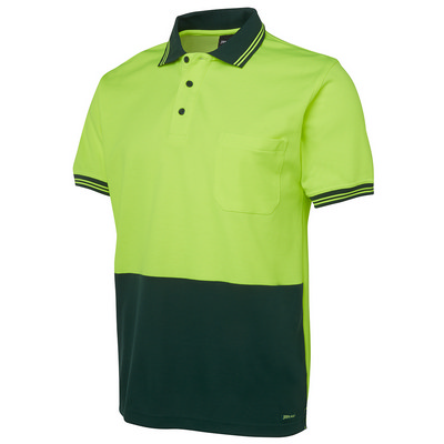 JBs Hi Vis S/S Cotton Back Polo (6HPS_JBS)