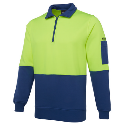 JBs Hi Vis 1/2 Zip Fleecy Sweat (6HVFH_JBS)
