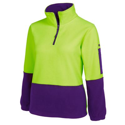 JBs Hi Vis Ladies 1/2 Zip Polar (6HVLP_JBS)