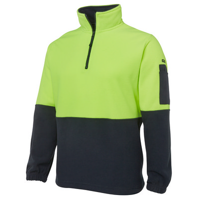 JBs Hi Vis 1/2 Zip Polar Fleece (6HVPF_JBS)