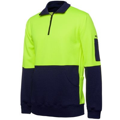 JBs Hi Vis 330G 1/2 Zip Fleece (6HVPZ_JBS)