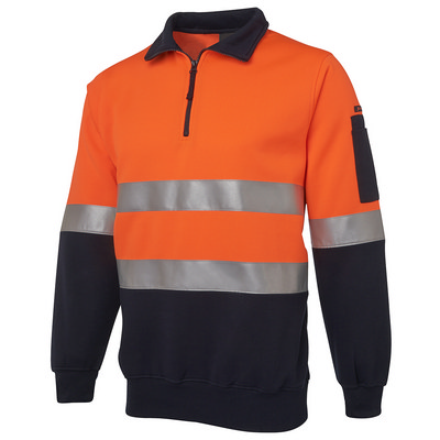 JBs Hi Vis (D+N) 1/2 Zip Fleecy Sweat (6HZFS_JBS)