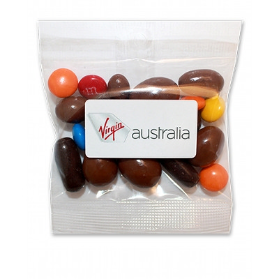 40g bag - Premium Chocolate TV Mix with label - (printed with 4 colour(s)) WL0033 XX030GLAB_LOLLY