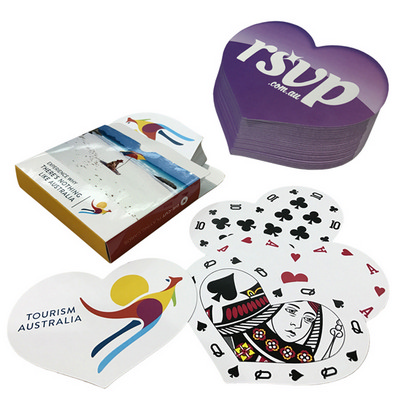 Playing cards digital Heart Shape - (printed with 4 colour(s))  (PLAYINGCARDSD3_OXY)