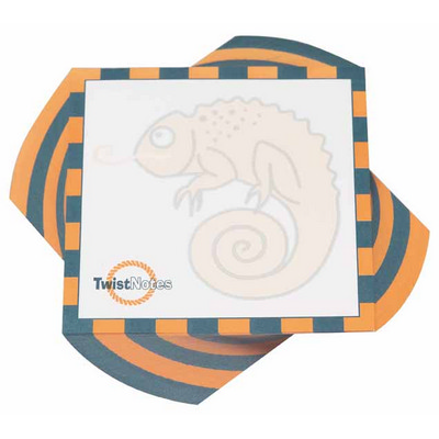100x100mm Twist Note - 2 COL Print - 150 L (Half T