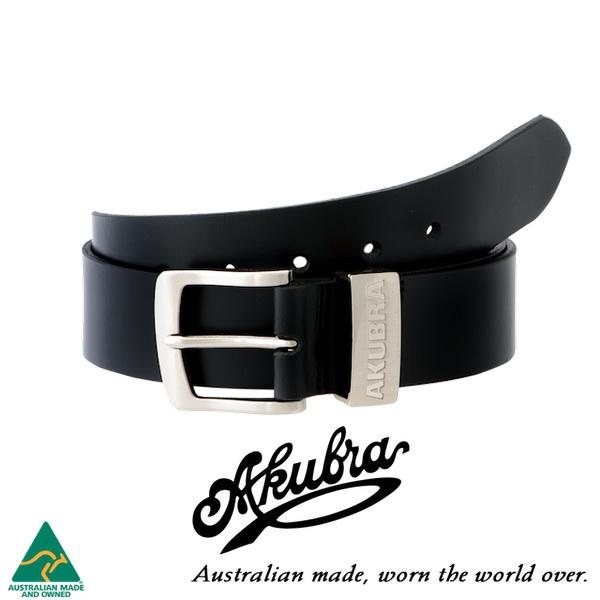 AKUBRA Leather Belt: DUBBO - black